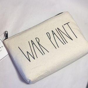 Rae Dunn War Paint Canvas Bag